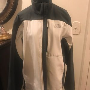 Men's North Face M Grey and white zip up jacket.